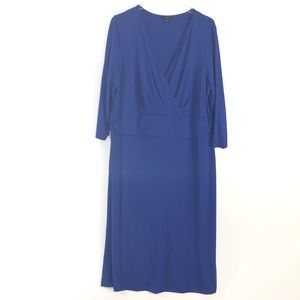 Talbots Woman | Empire Waist Crossover Dress 2X